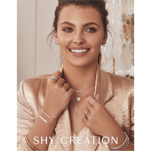 Shy Creation 14K Rose Gold And Diamond Lariat Necklace Image 4 SVS Fine Jewelry Oceanside, NY