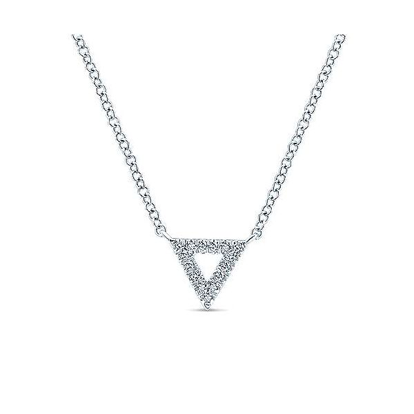 Gabriel & Co. Kaslique 14K White Gold Diamond Necklace SVS Fine Jewelry Oceanside, NY