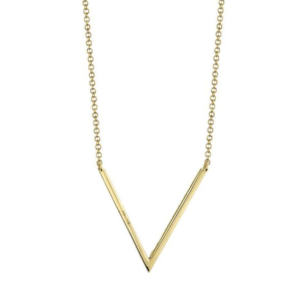 Shy Creation 14K Yellow Gold And Diamond Necklace Image 3 SVS Fine Jewelry Oceanside, NY