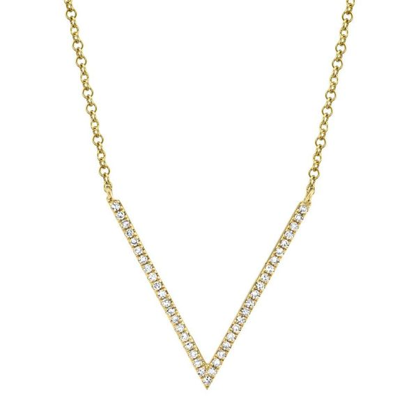 Shy Creation 14K Yellow Gold And Diamond Necklace SVS Fine Jewelry Oceanside, NY