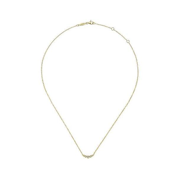 Gabriel & Co. Lusso 14K Yellow Gold Diamond Necklace Image 2 SVS Fine Jewelry Oceanside, NY