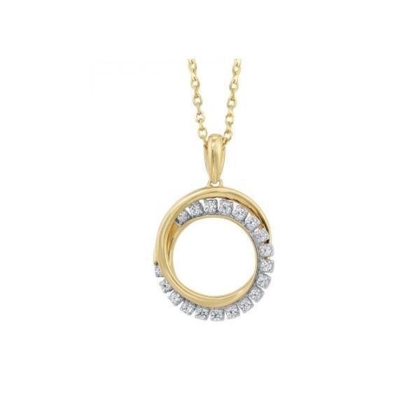 10K Yellow Gold Diamond Necklace, 0.10Cttw, 18