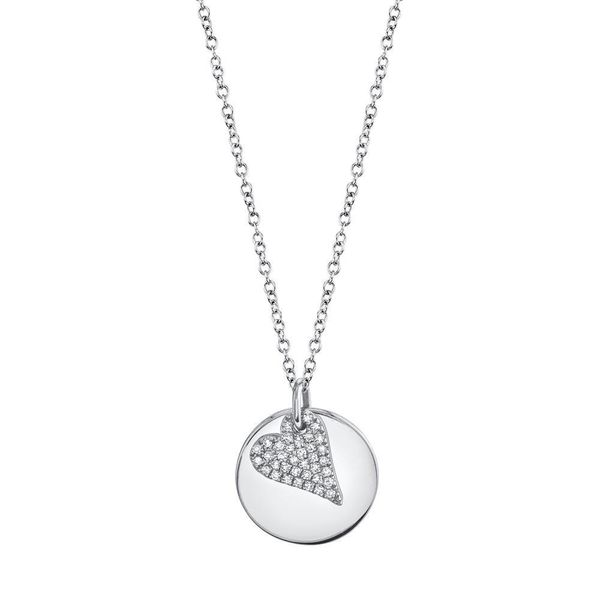 Shy Creation 14K White Gold And Diamond Heart Necklace SVS Fine Jewelry Oceanside, NY