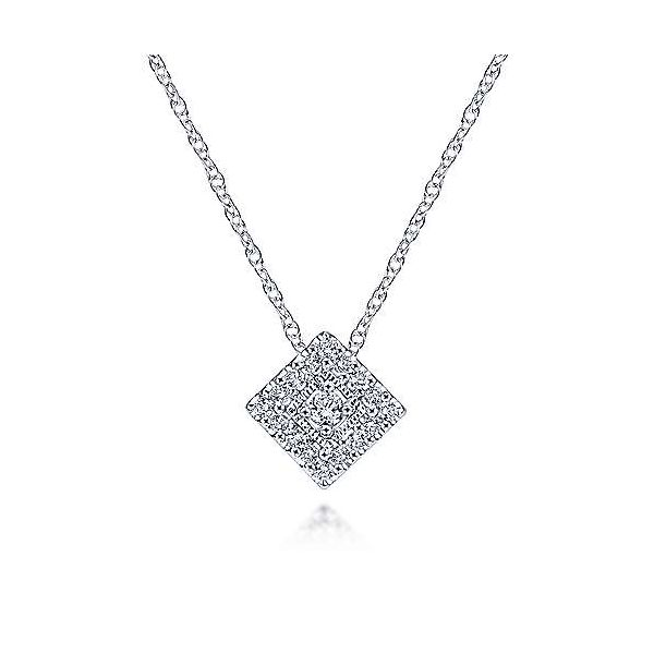 Gabriel & Co. Victorian Collection 14K White Gold Necklace SVS Fine Jewelry Oceanside, NY