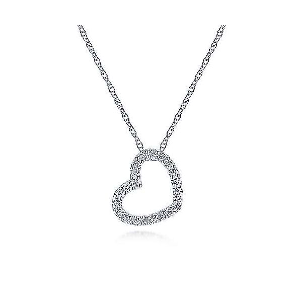 Gabriel & Co. Eternal Love 14K White Gold Heart Necklace SVS Fine Jewelry Oceanside, NY