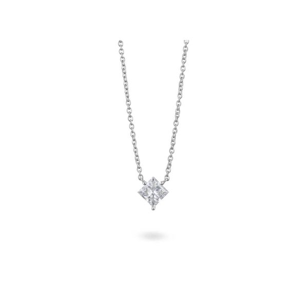 Lightbox Lab Grown Princess Cut Diamond Necklace, 1.00ctw SVS Fine Jewelry Oceanside, NY