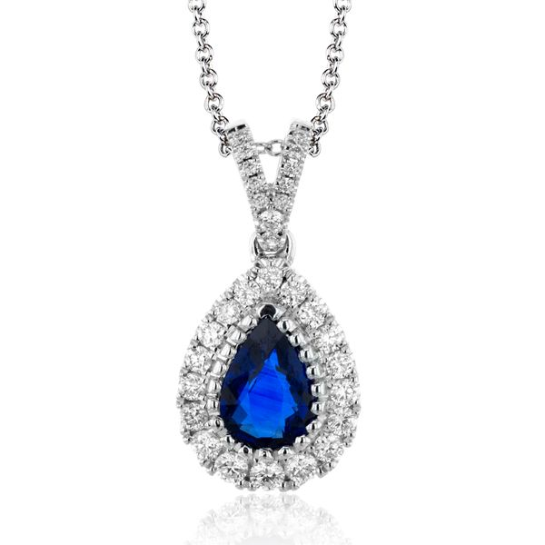 Simon G. White Gold, Diamond, And Sapphire Necklace SVS Fine Jewelry Oceanside, NY