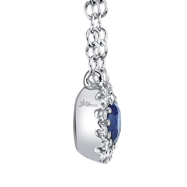 Shy Creation White Gold, Sapphire, And Diamond Necklace Image 2 SVS Fine Jewelry Oceanside, NY