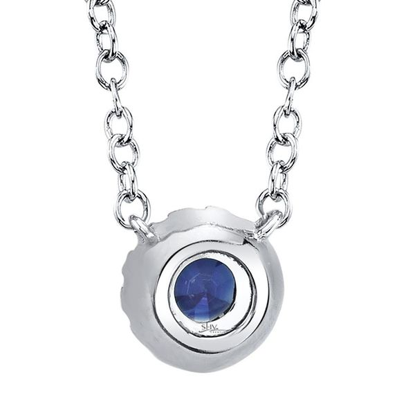 Shy Creation White Gold, Sapphire, And Diamond Necklace Image 3 SVS Fine Jewelry Oceanside, NY