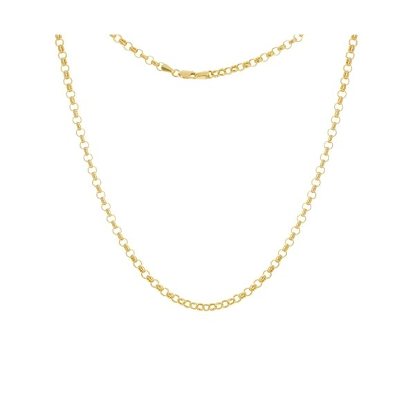 Yellow Gold 3.8 mm Hollow Rolo Chain SVS Fine Jewelry Oceanside, NY