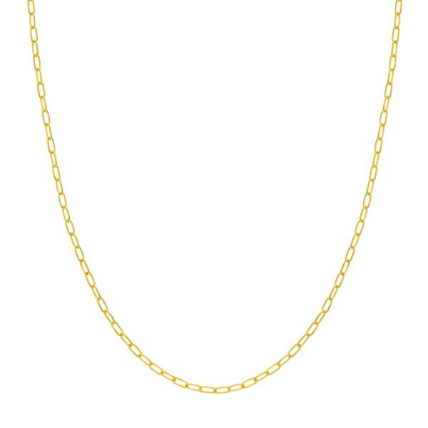 14K Yellow Gold 2.45 mm Paper Clip Chain SVS Fine Jewelry Oceanside, NY