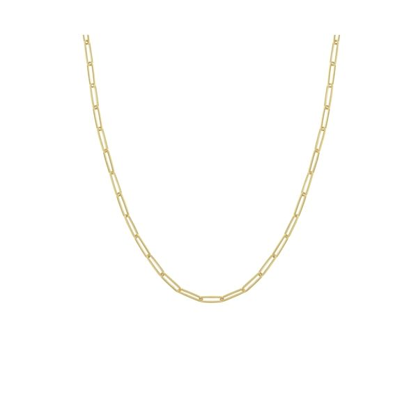 14K Yellow Gold 3.90 mm Paper Clip Chain, 18