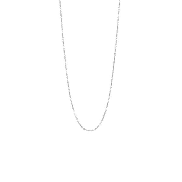 14K White Gold Cable Chain With Lobster Lock, 18