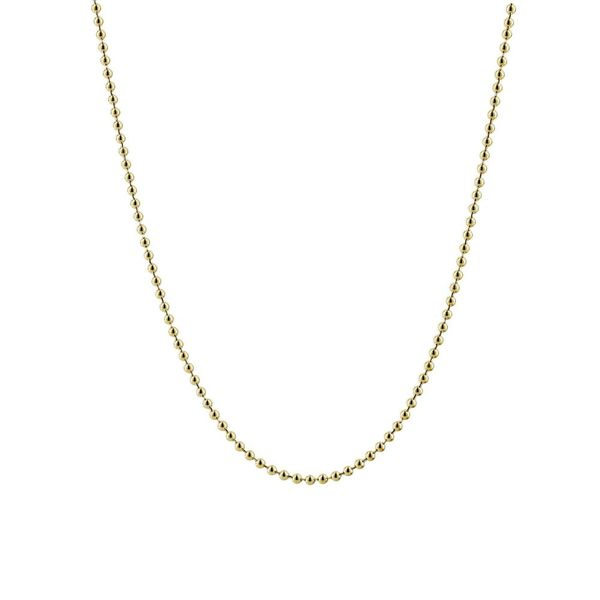 14K Yellow Gold Ball Chain With Lobster Lock, 18.5