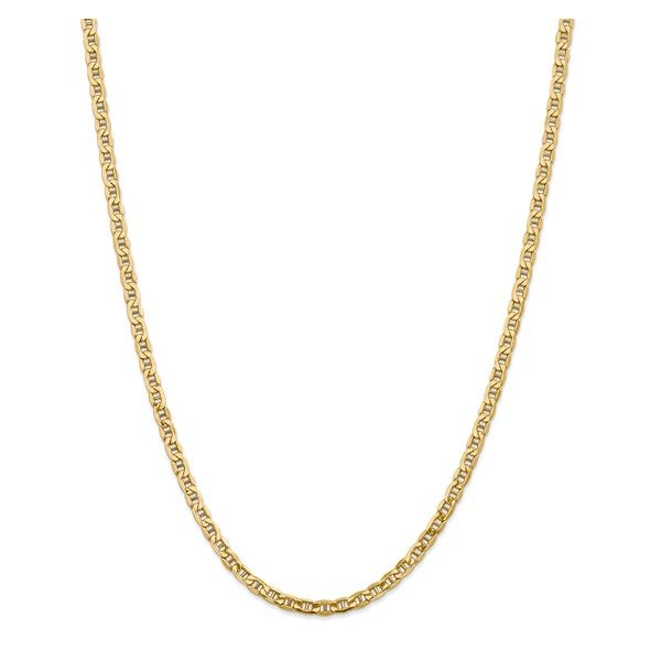 14K Yellow Gold 4 mm Semi-Solid Anchor Chain, 20 Inch SVS Fine Jewelry Oceanside, NY