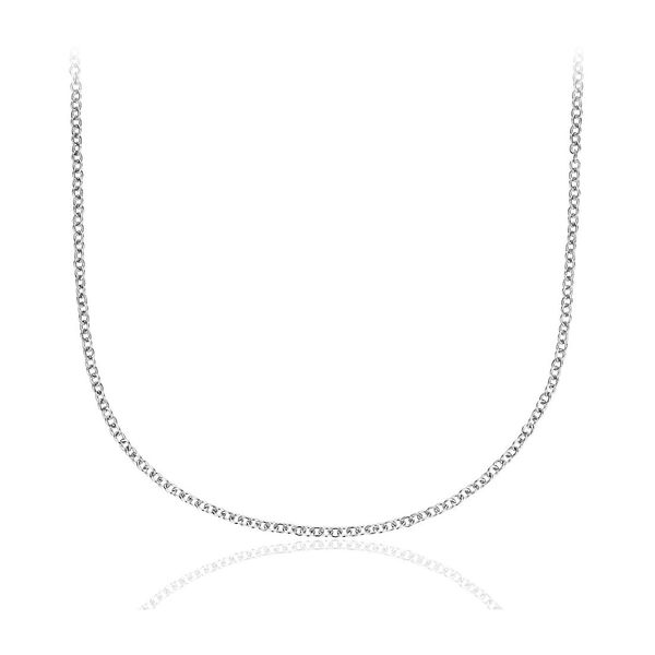 14K White Gold 1.1 mm Diamond Cut Cable Chain SVS Fine Jewelry Oceanside, NY
