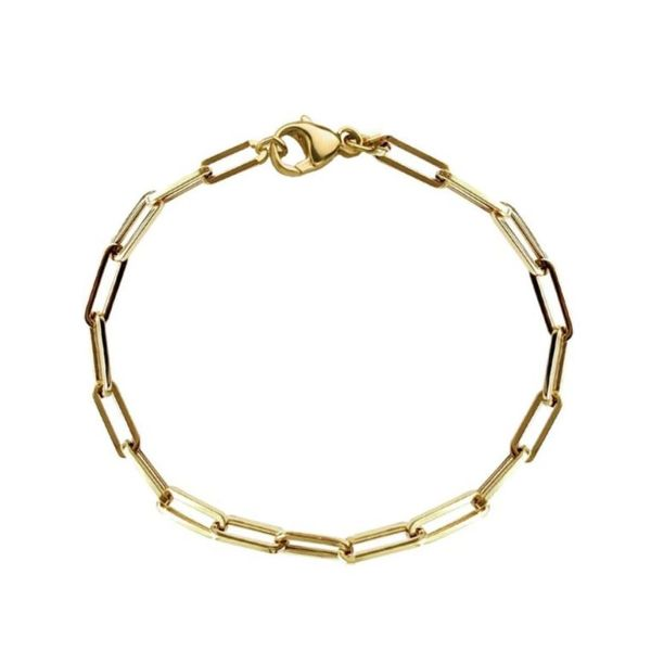 SVS Fine Collection Yellow Gold Paperclip Bracelet SVS Fine Jewelry Oceanside, NY