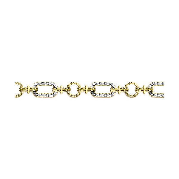 Gabriel & Co. Hampton Yellow-White Gold Diamond Bracelet Image 2  ,
