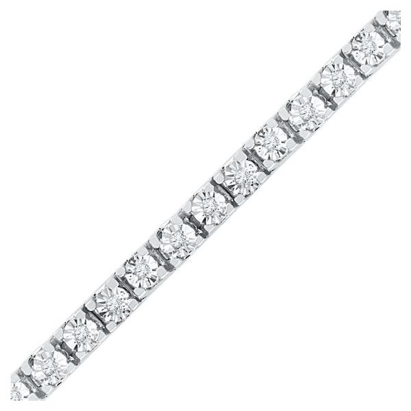 White Gold Diamond Miracle Set Tennis Bracelet, 11.00cttw SVS Fine Jewelry Oceanside, NY