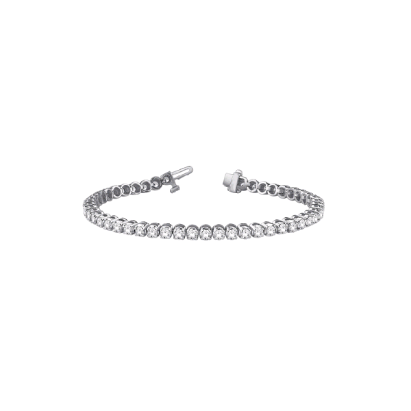 10K White Gold Diamond Bracelet, 2.00cttw, 7.5