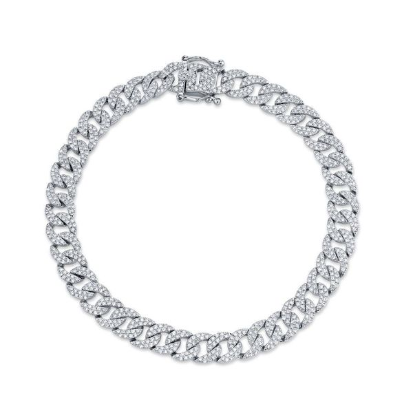 Shy Creation 14K White Gold Diamond Bracelet SVS Fine Jewelry Oceanside, NY