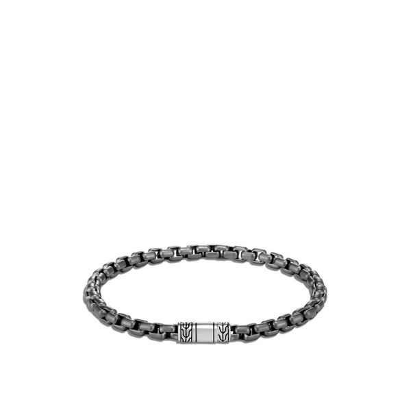 John Hardy Men's Chain Collection Silver Box Chain Bracelet SVS Fine Jewelry Oceanside, NY
