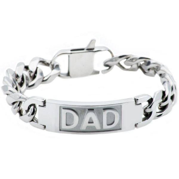 Men's Stainless Steel Fathers Day Dad Bracelet SVS Fine Jewelry Oceanside, NY