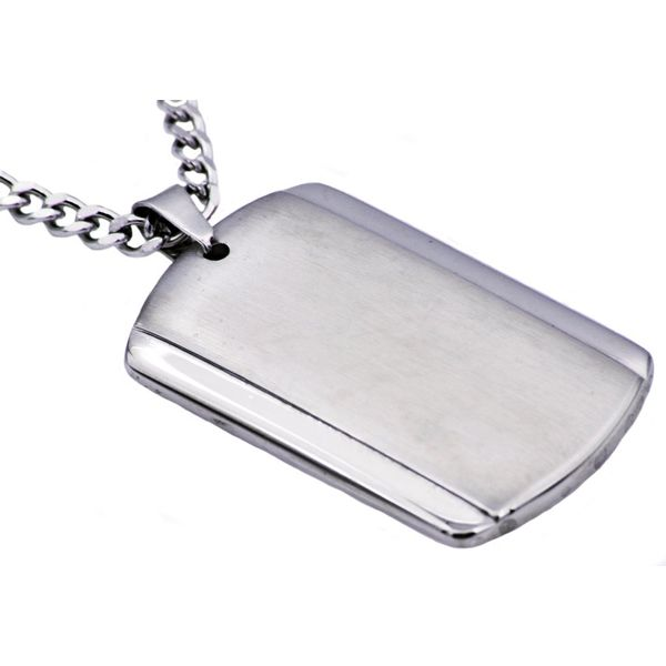 Men's Plated Stainless Steel Dog Tag Pendant SVS Fine Jewelry Oceanside, NY