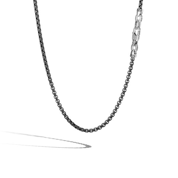 John Hardy Men's Chain Collection Silver Box Chain Necklace SVS Fine Jewelry Oceanside, NY