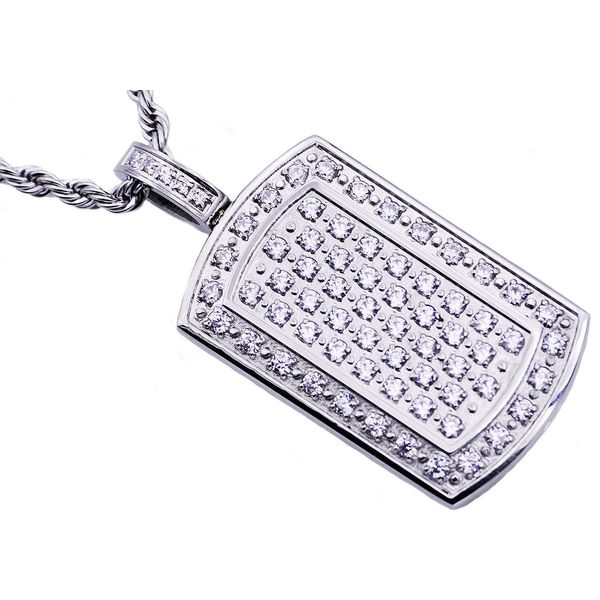 Men's Stainless Steel Dog Tag Pendant SVS Fine Jewelry Oceanside, NY