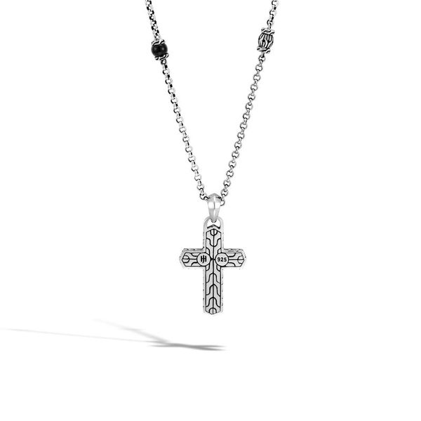 John Hardy Men's Chain Collection Silver Cross Necklace Image 2 SVS Fine Jewelry Oceanside, NY
