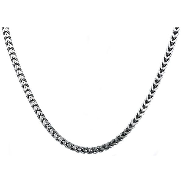 Men's 4 mm Stainless Steel Franco Link Chain Necklace SVS Fine Jewelry Oceanside, NY