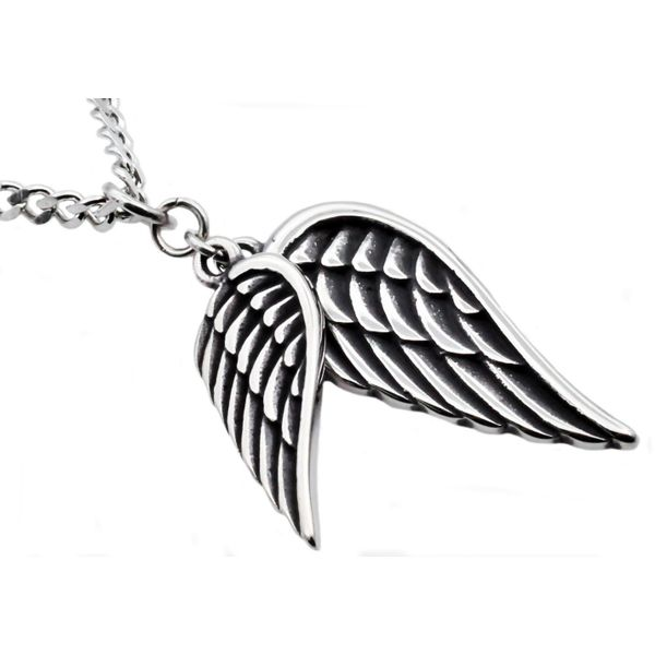 Men's Stainless Steel Wings Pendant SVS Fine Jewelry Oceanside, NY