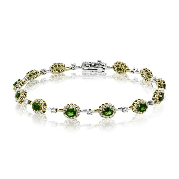 Simon G. White & Yellow Gold, Diamond, & Emerald Bracelet SVS Fine Jewelry Oceanside, NY