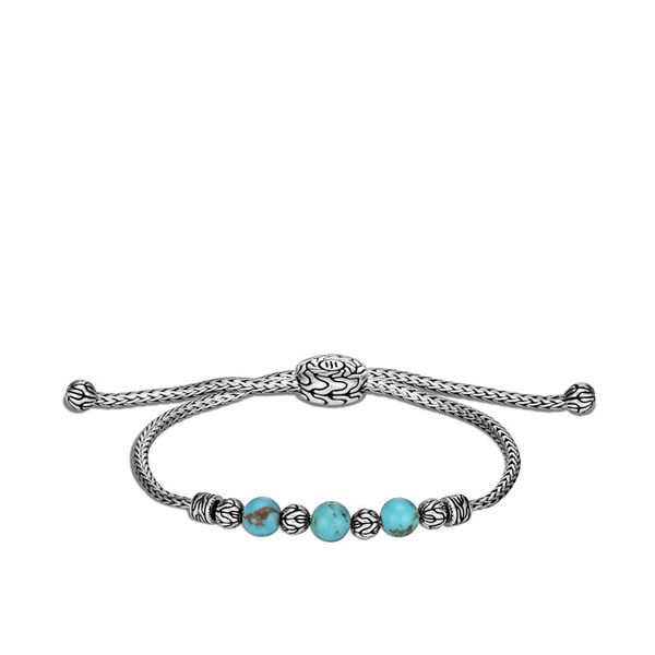 John Hardy Chain Collection Silver & Turquoise Bracelet SVS Fine Jewelry Oceanside, NY