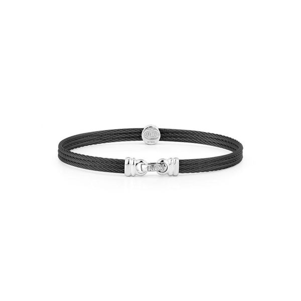 ALOR Noir Collection Diamond Bangle Image 2  ,