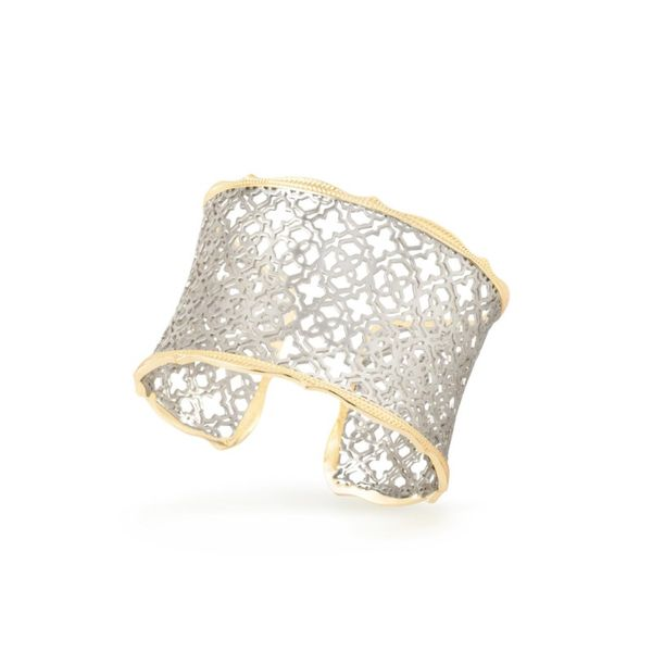 Kendra Scott Candice Gold Cuff Bracelet in Silver Filigree Image 2  ,