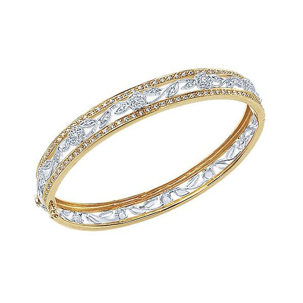 Gabriel & Co. Vintage 14K Yellow/White Gold Bangle Image 2  ,