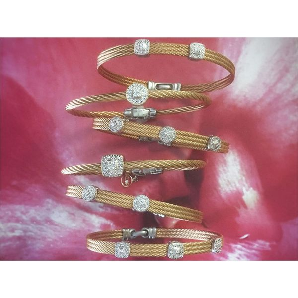 ALOR Rose Cable Bangle Image 2  ,