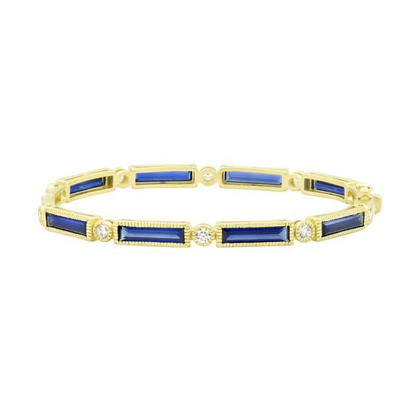 Freida Rothman Color Theory Baguette Bar Hinge Bangle SVS Fine Jewelry Oceanside, NY