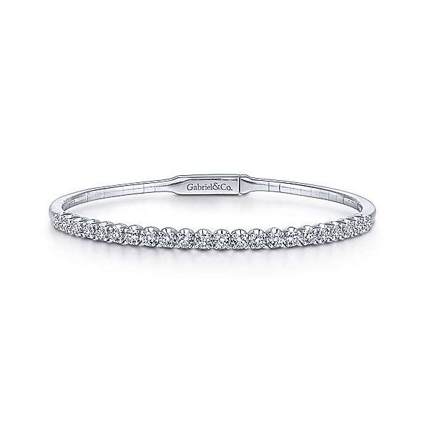 Gabriel & Co. Demure 14K White Gold Diamond Bangle SVS Fine Jewelry Oceanside, NY