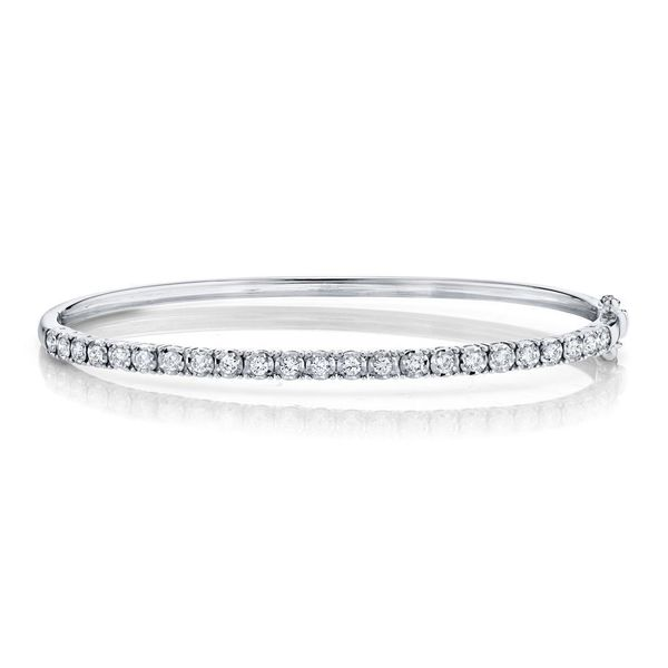 Shy Creation 14K White Gold Diamond Bangle, .69Cttw SVS Fine Jewelry Oceanside, NY