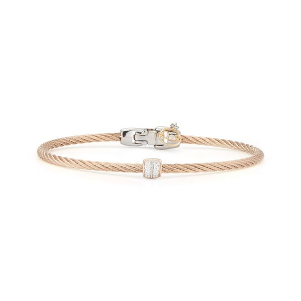 ALOR Carnation Cable Bangle, .07cttw SVS Fine Jewelry Oceanside, NY