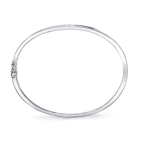 Shy Creation 14K White Gold Diamond Bangle, .38cttw Image 3 SVS Fine Jewelry Oceanside, NY
