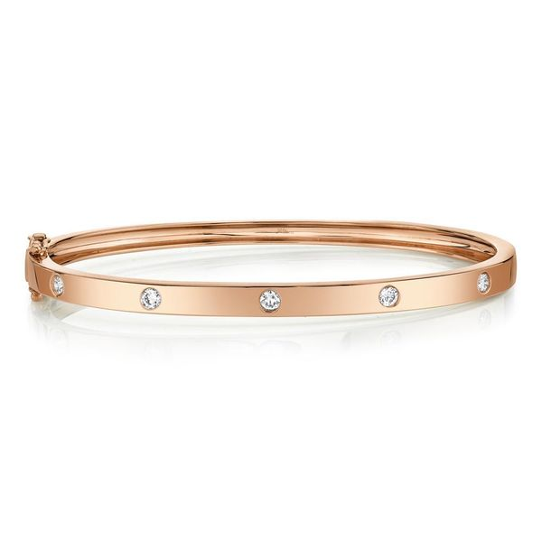 Shy Creation 14K Rose Gold Diamond Bangle, .38cttw SVS Fine Jewelry Oceanside, NY