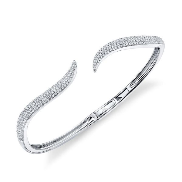 Shy Creation 14K White Gold Diamond Bangle, 0.84Cttw Image 2 SVS Fine Jewelry Oceanside, NY