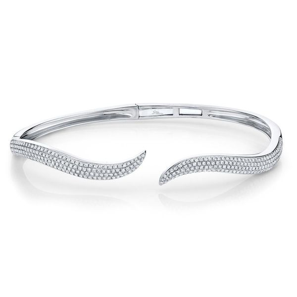 Shy Creation 14K White Gold Diamond Bangle, 0.84Cttw SVS Fine Jewelry Oceanside, NY