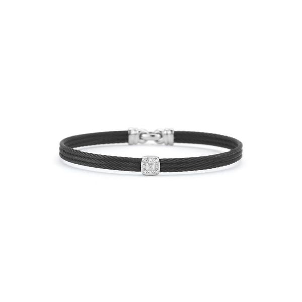 ALOR Noir Collection Bangle, 0.05cttw Diamonds SVS Fine Jewelry Oceanside, NY