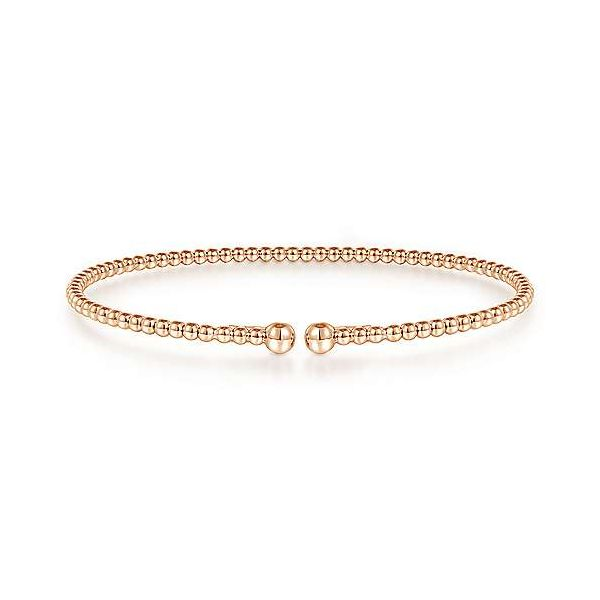 Gabriel & Co. Bujukan 14K Rose Gold Diamond Bangle SVS Fine Jewelry Oceanside, NY