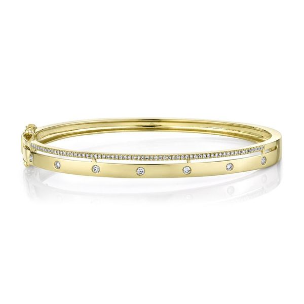 Shy Creation 14K Yellow Gold And Diamond Bangle SVS Fine Jewelry Oceanside, NY